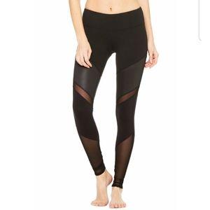 Alo Yoga Sheila Legging Glossy Black Mesh